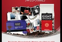 Eight O'Clock Coffee's PIN YOUR PRIZE Sweepstakes.