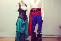 Pirate Couple's Outfits / sample outfits for the pirates and lady pirates.