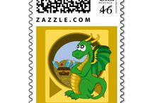 Stamps collection / My stamp designs available on Zazzle
