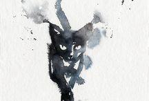 Tattoo black cat