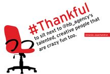 #Thankful / Blog the 13th: The HB team shares what they're thankful for this year. http://www.slideshare.net/HBAgency/thankful-slideshare