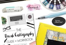 Hand Lettering & Brush Calligraphy / Hand lettering, watercolor, brush calligraphy tips, tutorials, ideas and supplies.