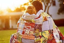 Blankets wrap you in warmth; quilts wrap you in love / by Melissa Mitchell