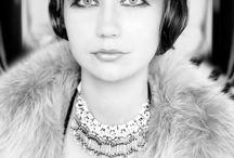 Art-deco foto  visage / outfit, moda, visage about 20s century style of women, beauty