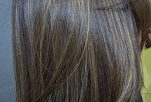 Luzes mexas cabelo
