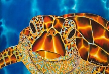 Luscious Silk Painting / What a fantastic medium silk is for painting on. We've been dabbling now for 15+ years and we still love the luminous bright colours.