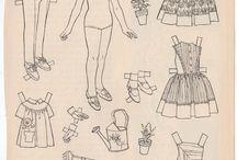 papierowe lalki