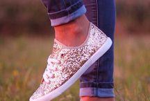 Shoe and head over heels