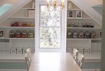 art studio ideas / organization and design ideas for the art studio of my dreams / by Bonnie Lecat Designs
