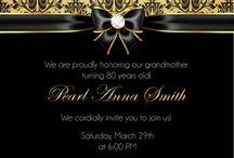 Birthday invitations adult