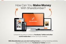 ShareBomber / ShareBomber pays you money for sharing on social media. Best way to make money online :)