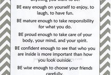 Inspirational Sayings for Tweens / Nice, motivational, maybe even funny sayings and pictures!