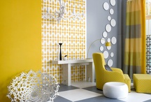 Living/dining / White, grey & yellow. Industrial. Retro. Upcycling