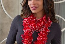 Red Heart Sashay Yarn / Go beyond ruffle scarves with Sashay! With multiple versions and new pattern ideas, you'll be inspired to do more with Sashay.