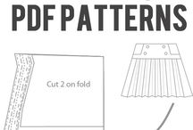 Digital sewing patterns / Photoshop for sewing patterns / by Rebecca Themeras