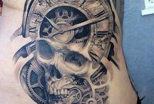 horloge tête de mort