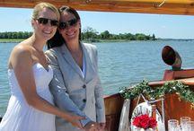 Lesbian & Gay Weddings aboard the yacht Sail Selina II, St Michaels MD / Same Sex Marriage, Lesbian Weddings, Gay Weddings, Love Wins, romance, elopement, intimate ceremony