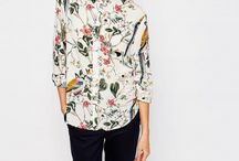 Blouse With Flower Pattern On A Solution For The Everyday Outfit, As Well As For The Business Look