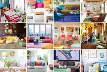 Home - Colorful Living Rooms