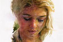 Watercolor wajah