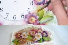 Clock decoupage