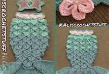 mermaid chrochet tail blanked