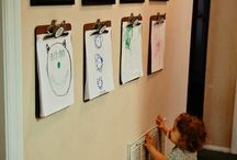 displaying children's artwork / by Joanna Davis