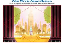 John Wrote About Heaven Bible Activities / The Apostle John was a special friend of Jesus. Late in John's life, God gave John a vision of that would happen in the future and of the place where Christians will live forever with Jesus. That special place is called heaven. These Bible activities for kids will teach children about John's writing and heaven.