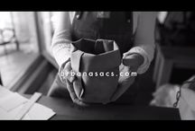 OUR VIDEOS / Designer Carolina Tombolesi shares how she uses her urbana sacs at home, at work, at play. Plus behind-the-scenes glimpses of how each bag is handmade in L.A.