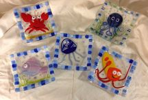 Fused Glass / Fused Glass projects created at Blue Bird Glass Studio