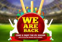 IPL at The Orchid Hotel, Mumbai / When you thought that the fun was almost over, WE ARE BACK again with a bang! This cricketing season come to The Orchid Hotel and enjoy watching live matches as you indulge in delicious treats with friends and family. / by The Orchid Hotel, Mumbai