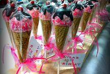 Cake pop ice-cream cone