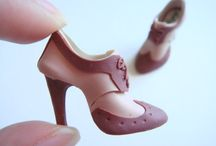chaussures en fimo