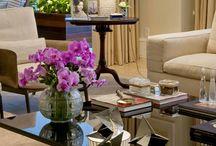 Mesas de centro - Coffee table. Ideias de como decorar / Sugestão de decoração de mesa de centro - Coffee table.