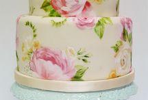 wedding cake - painted