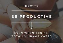 Produktivität | Productivity / Produktivität | Motivation | Organisation | Zeiteinteilung | Get shit done |