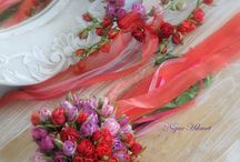 düğün çiçegi ve tacı