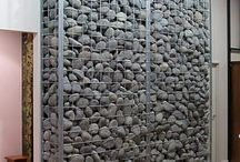Gabion Cages / Check out some ideas i like with Gabion Cages & Rocks