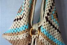 Bags for Val / Crochet granny square bag.