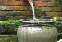 Garden Water Features / Ponds, streams and waterfalls. Pools and fountains in the garden. Construction and design