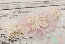 Haarbandjes / Diverse haarbandjes voor newborn / baby / 0-3 maanden. Verkrijgbaar via handmade2love.nl