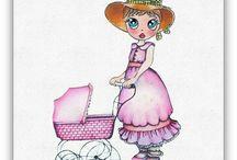 Melinda Dolls / hollyhobbie