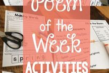 Poems activities