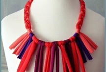Little girls fabric necklaces