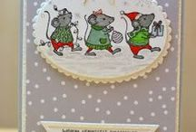 Christmas Stampin Up cards.