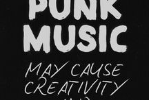 Music - Punk typography ideas