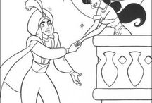 Aladin And Jasmin Coloring Pages