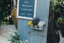I N S P I R A T I O N // Nature bleutée / Tableau d'inspiration pour un mariage inspiré de la nature avec une petite touche de bleu bleu - vert- gris- blanc- doré - bois - verre