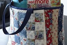 Totes and other bags / Bags to sew: totes, cosmetic, utility, diaper, etc. Just ideas.