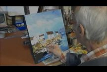 oil painting on stretched canvas